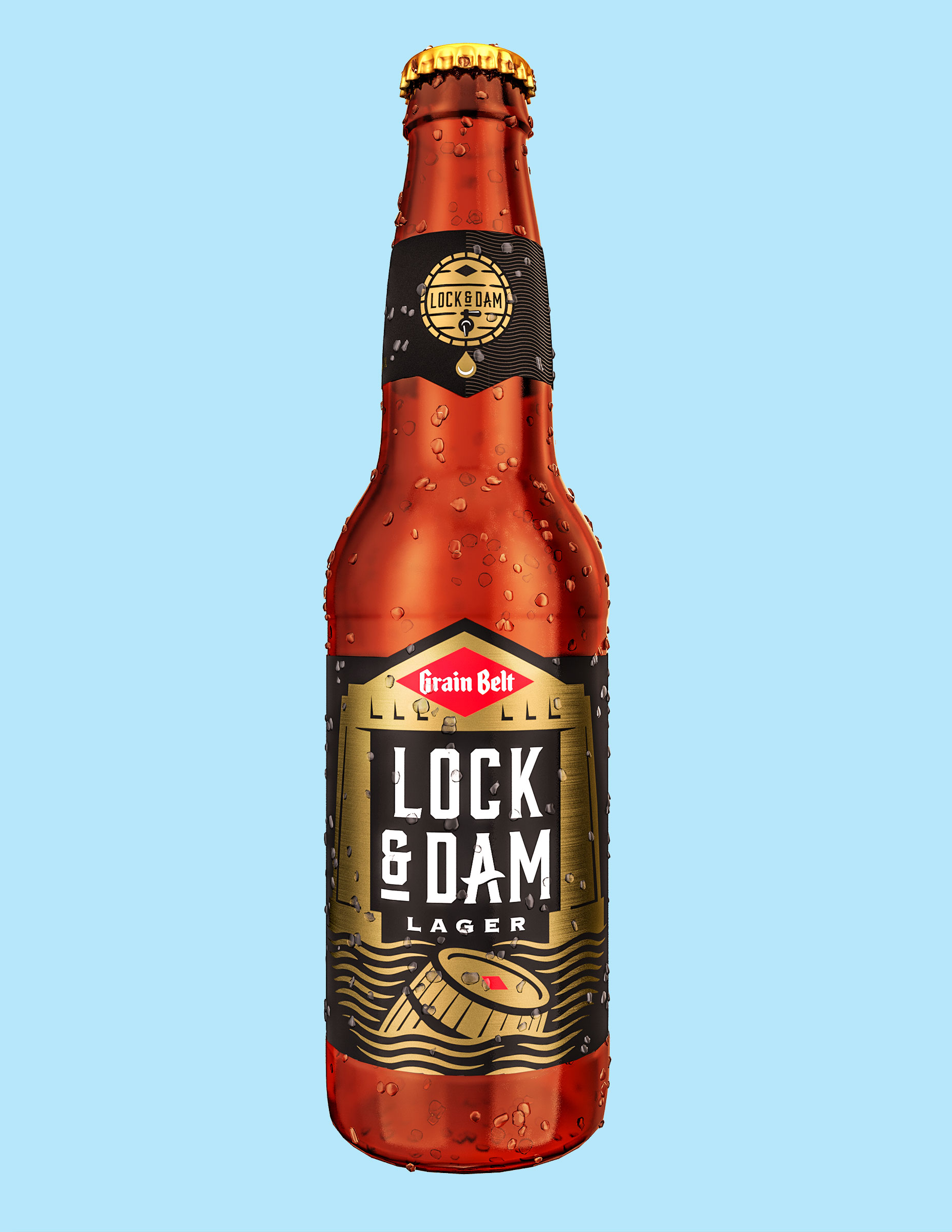 Grain Belt Lock & Dam Lager